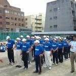 中央高校同窓会50周年記念:OB団体訓練の様子