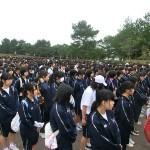 中央高校同窓会50周年記念:記念式典の様子:南薩路遠行の様子